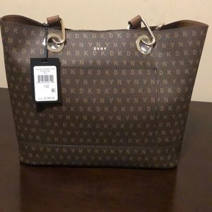 DKNY brown unlined Tote, NWT